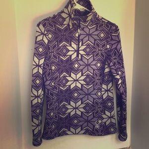 Spyder size 6 snowflake print purple sweater
